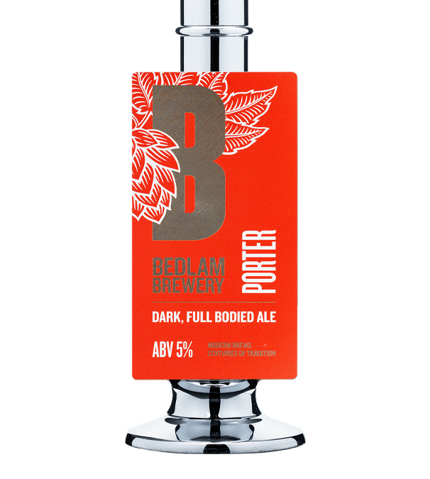Bedlam Brewery Porter 9 Gallons Dark  5.0%