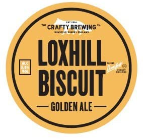 Crafty Brewing Loxhill Biscuit 9 Gallon Golden 3.6%