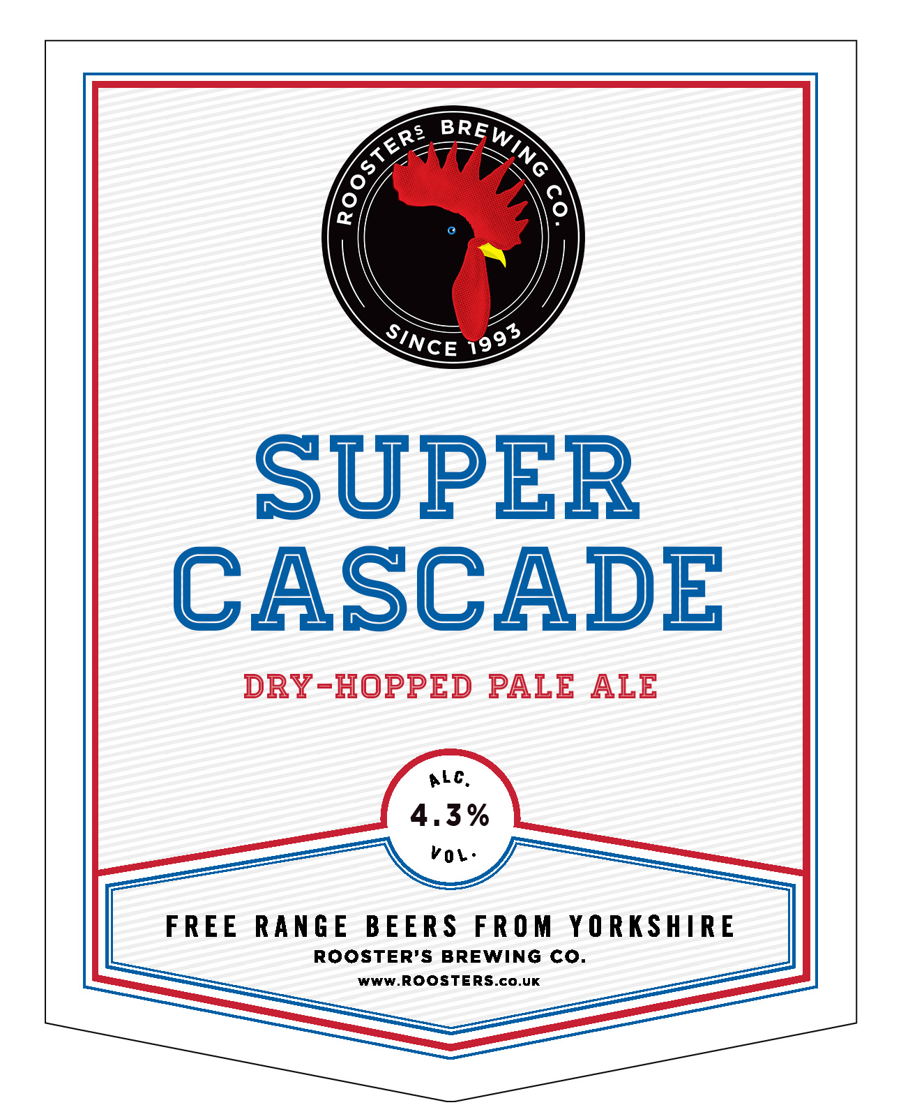 Rooster's Super Cascade 9 Gallon Pale 4.3%