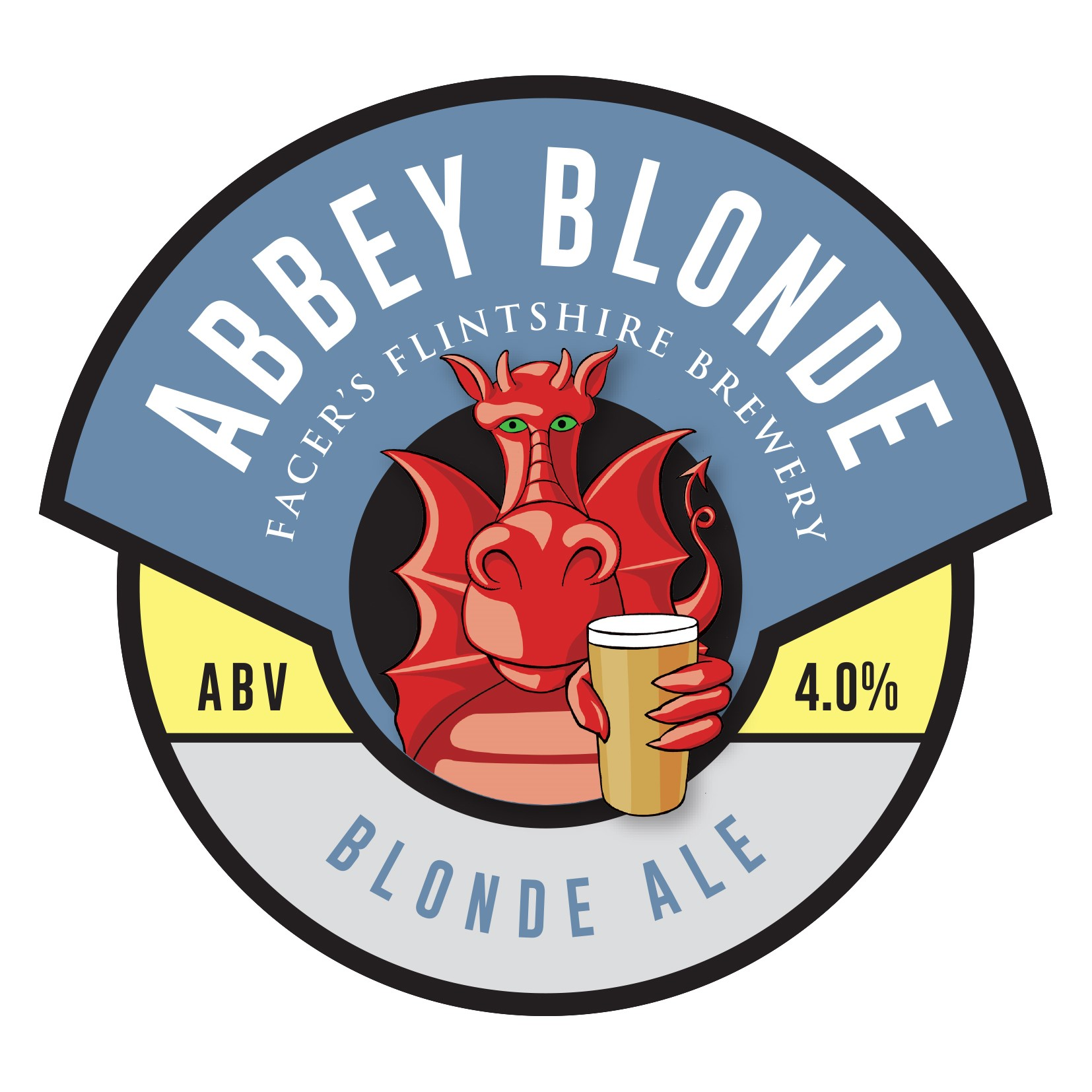 Facers Abbey Blonde 9 Gallon Blonde 4.0%